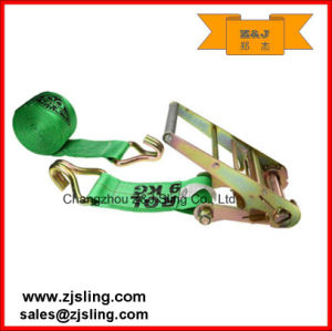 """4"""" W/Wire Hooks Ratchet Strap 4"""" X 40′ Green pictures & photos"""