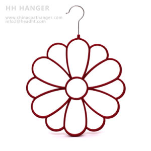 Wholesale Flocked Hanger, Scarves Velvet Flocking Hangers pictures & photos