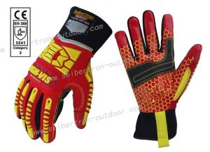 Seibertron High-Vis HRC5 Rigger Grip Cut 5 Super Grip Impact Protection Oil and Gas Safety Gloves