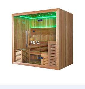 Square 4-6 Person Capacity Cedar Wooden Dry Sauna Room (M-6045) pictures & photos