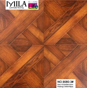 China 12mm art parquet laminate flooring 9080 3 china for Art laminate flooring