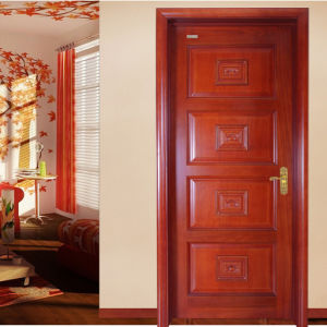 Fancy Luxury Interior Wood Doors with Glass/Engineering Installation