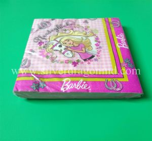 Birthday Party Decortive Dinner Paper Napkins with Color Printed pictures & photos
