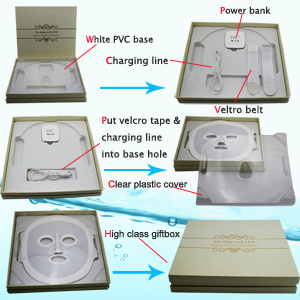 Face Mask LED Facial Light for Skincare 3 Color Acne Removal Face Lifting LED Mask pictures & photos