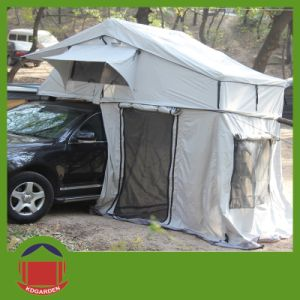Light Grey Color Roof Top Tent with Skylight Window pictures & photos