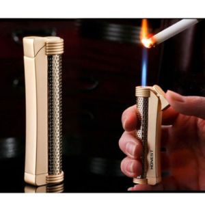 Honest Windproof Flame Torch Cigarette Butane Gas Refillable Lighter (ES-EB-063) pictures & photos