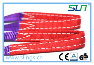 1t*1m Eye Type 100% Polyester Webbing Sling Ce GS 1t 7: 1 pictures & photos