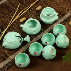Yue kiln Ancient impression Kung Fu Celadon Tea Set RY001