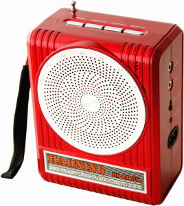 Portable Radio with USB/SD and Rechargeable Battery (HN-0382UAR)