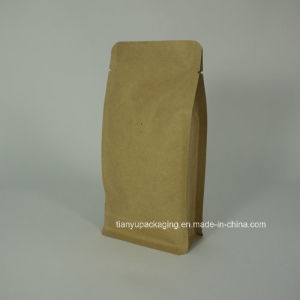 Kraft Paper Flat Block Bottom Box Pouch Coffee Bag pictures & photos