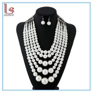 Fashion Women Exaggerated Multilayer Pearl Necklaces pictures & photos