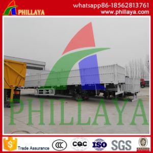 Flatbed Detachable Semi Side Wall Drop Trailer pictures & photos
