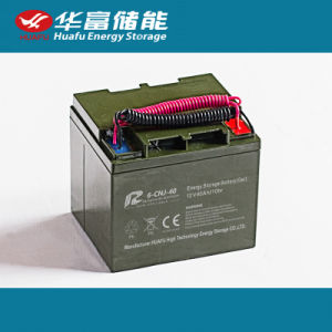 12V40ah Deep Cycle Rechargeable AGM/Gel Battery for Solar Applications pictures & photos