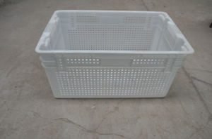 Wire Mesh Stackable and Nestable Plastic Crate pictures & photos