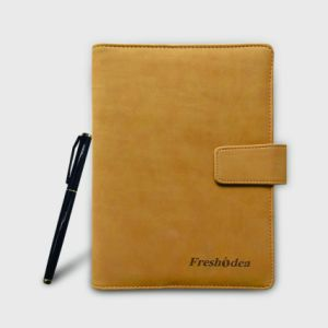 Leather Cover Paper Notebook with High Quality Paper Notebook pictures & photos