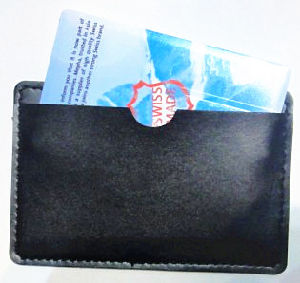Gift Packag, Leather Cases for Credit Card USB Drives (DG-SZ085)