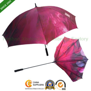 Customized Advertising Golf Umbrella with Full Panel Printing (GOL-0027FC) pictures & photos