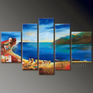 Modern Wall Decor Seascape Oil Painting on Canvas (SE-191) pictures & photos