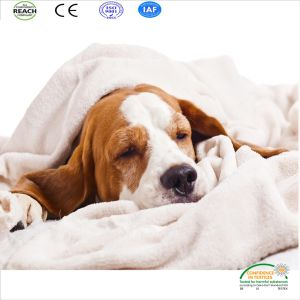 Coral Fleece Dog Sleeping Blanket (Dog Bed Blanket) pictures & photos