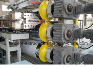 PVC Solid Soft Sheet Extrusion Production Machine with Twin Screw Extruder pictures & photos
