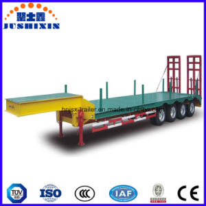 100t 4axles Low Bed Semi Trailer pictures & photos
