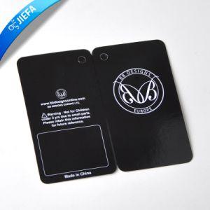 Custom Gold Foil Hang Tag and UV Logo Hang Tag pictures & photos