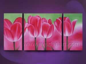Whoesale Beautiful Oil Painting of Flower on Canvas (FL3-190) pictures & photos