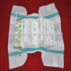 PE Film with One Side Elastic Waist Band Diapers Baby