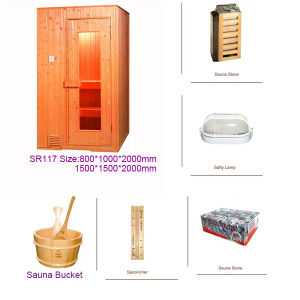Hot Sale Finland Pine Wooden Steam Mini Sauna Room (SR117) pictures & photos