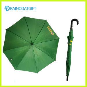 48.5cm*8k Promotion Advertising Green Straight Rain Umbrella pictures & photos