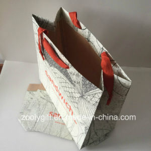 Logo Printing Women Clothes Packing Brown Kraft Gift Paper Bags pictures & photos