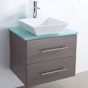 Melamine Surface Bathroom Vanity with Good Quality (SW-ML003W) pictures & photos