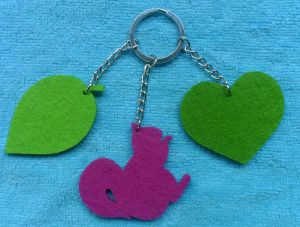 Colorful New Wool Felt Keychains China pictures & photos