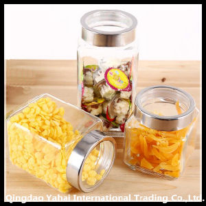 Clear Straight Jar with Clear Plastic Lid pictures & photos
