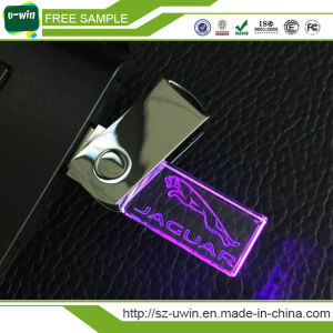 New Crystal LED USB Flash Drive with Free Logo Design pictures & photos