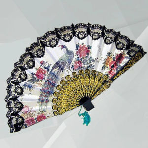 Classical Print Folding Fans pictures & photos