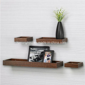 Unique Design Wooden Bookshelf Wall Shelves for Home pictures & photos
