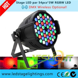 DMX512 Wireless LED PAR Lighting 54*3W RGBW CREE LEDs with Ce, RoHS