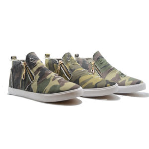 New Camouflage Zippor Classical Canvas Casual Student Men Shoes pictures & photos