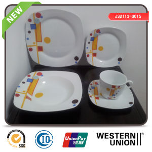 Plaid Porcelain Dinnerware for Household pictures & photos