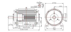 100kw-150rpm-60Hz Permanent Magnet Wind Generator pictures & photos