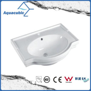 Semi-Recessed Bathroom Ceramic Cabinet Basin Hand Washing Sink (ACB5045A) pictures & photos