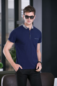 Men′s Short Sleeve Breathable Slim Fit Casual Knit Polo Shirt pictures & photos