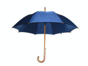 Auto Wood Straight Umbrella Gilf Umbrella (SU022) pictures & photos