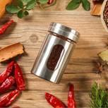 Cylindrical Cruet Pot Stainless Steel Visual Leak-Proof Soy Salt Vinegar Cruet Pot Oil Can Spray Bottle Spice Cruet Dressing pictures & photos