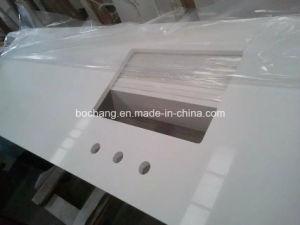 Engineered Stone White Quartz Kitchen Countertop pictures & photos