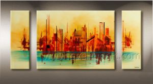 Handpainted Modern Abstract Paintings for Living Room (XD3-251) pictures & photos