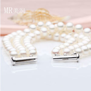 3strands 6-7mm Nature Freshwater Pearl Fashion Bracelet (E150036) pictures & photos