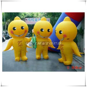 Ginseng Inflatable Moving Cartoon for Business Promotion