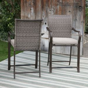 Well Furnir Sturdy Frame Coast Wicker Bar Bistro Dining Set pictures & photos